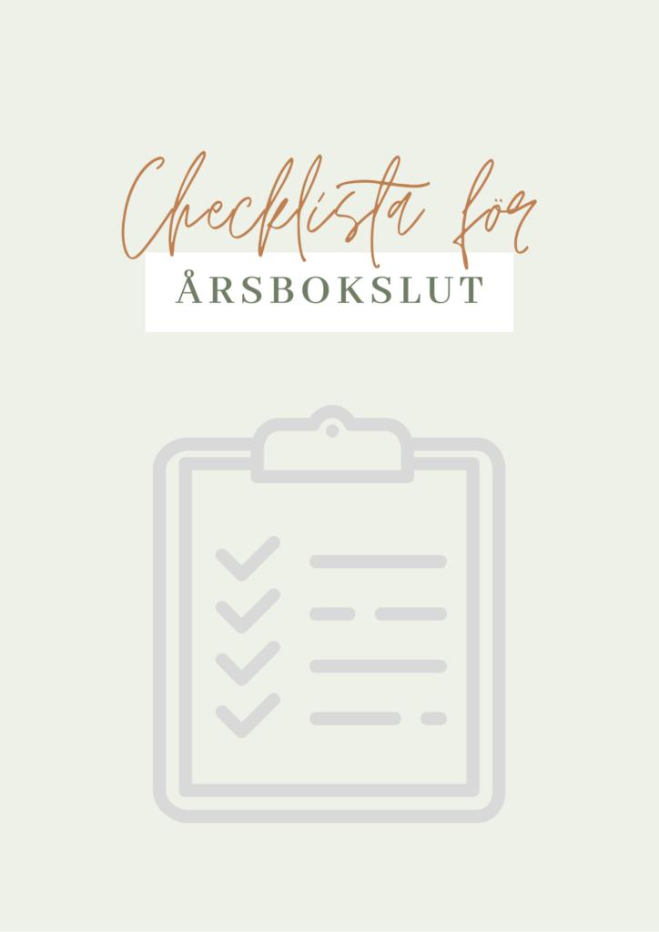checklista för årsbokslut